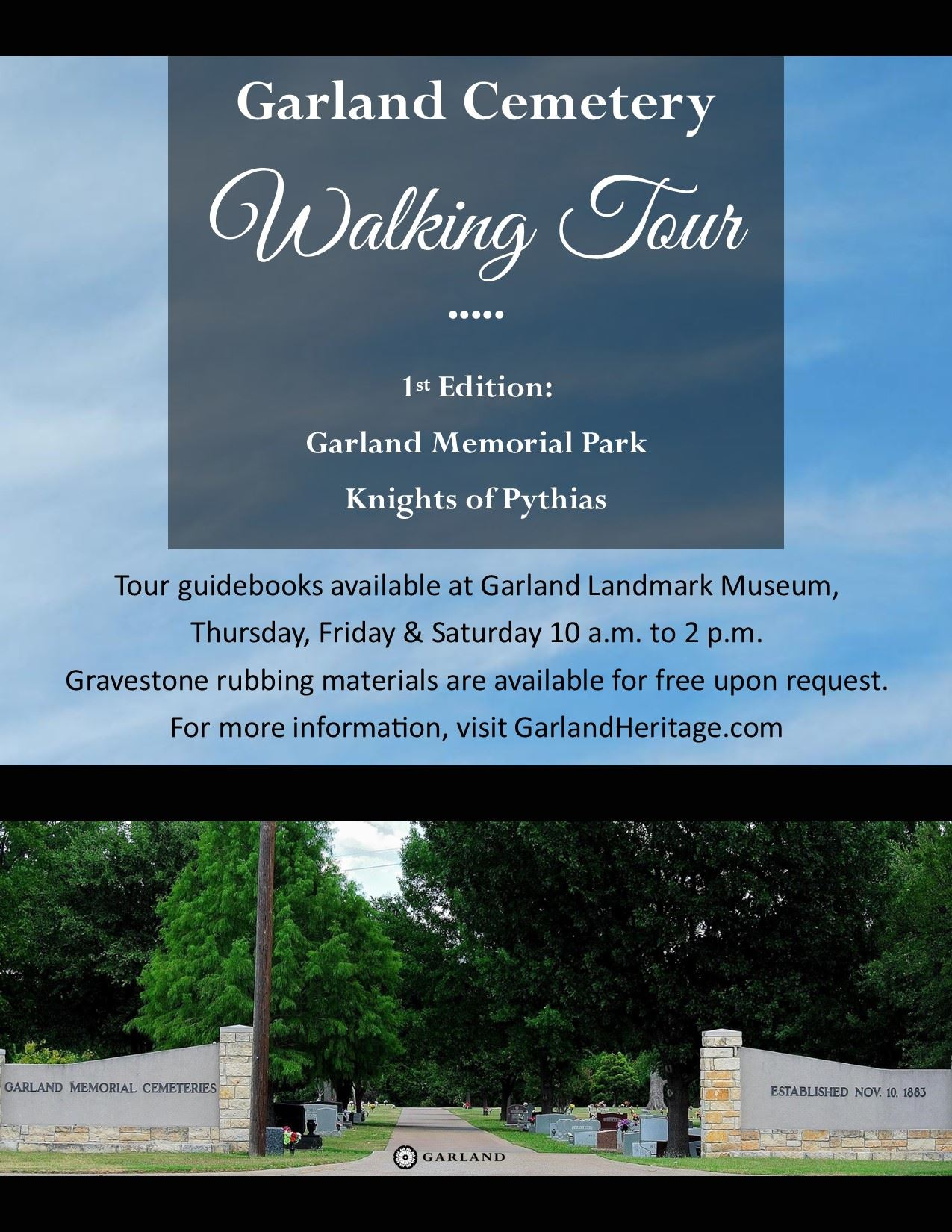 Cemetery Tour first edition